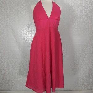 3/$25 J. Crew Bright Pink Fit & Flare Dress Sz 12